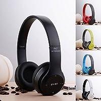 Fone De Ouvido Headphone Sem Fio Bluetooth P47 Micro SD FM Branco/Preto
