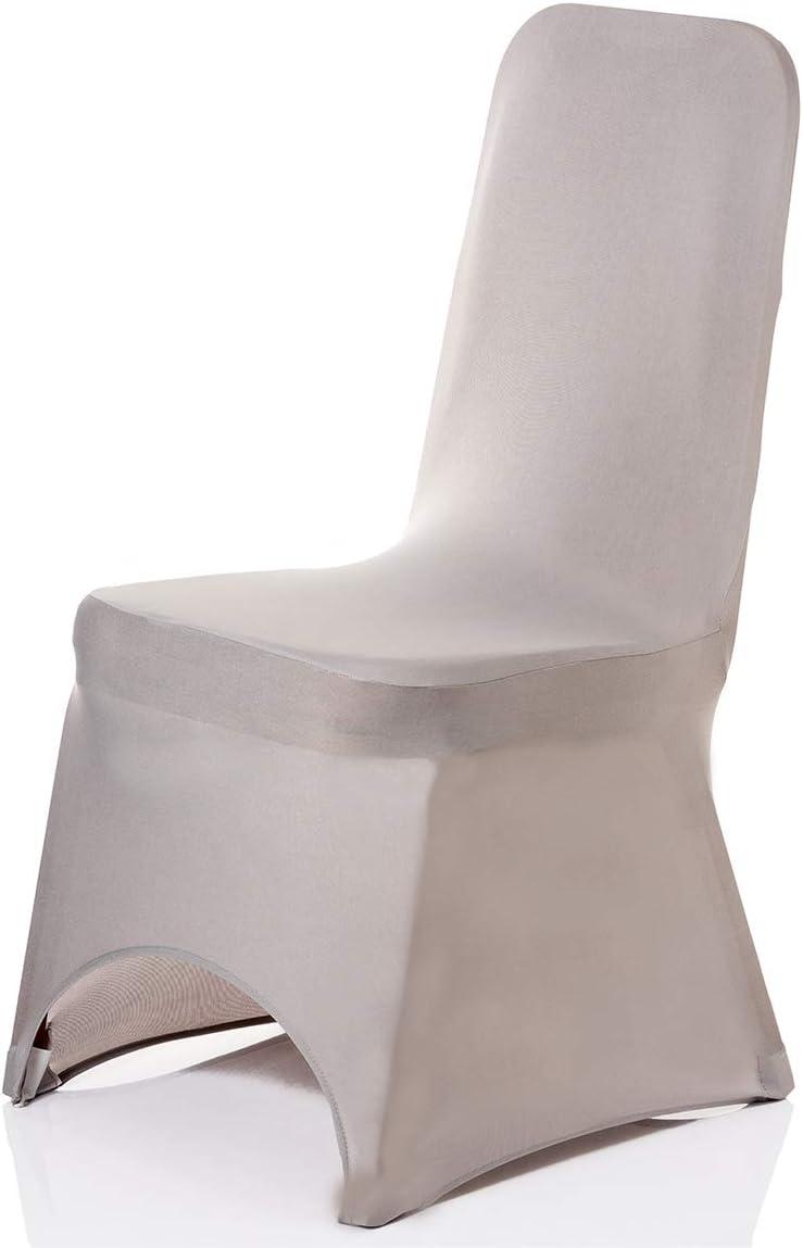 1pc Fuchsia Trimming Shop Spandex Chaise Housse Tissu Extensible Amovible Lavable Protection Housses pour Mariages Banquets C/ér/émonie H/ôtel D/îner F/êtes D/écoration