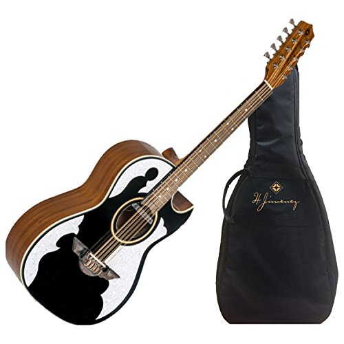 H Jimenez Bajo Quinto LBQ4EBT Black Acoustic Electric Guitar