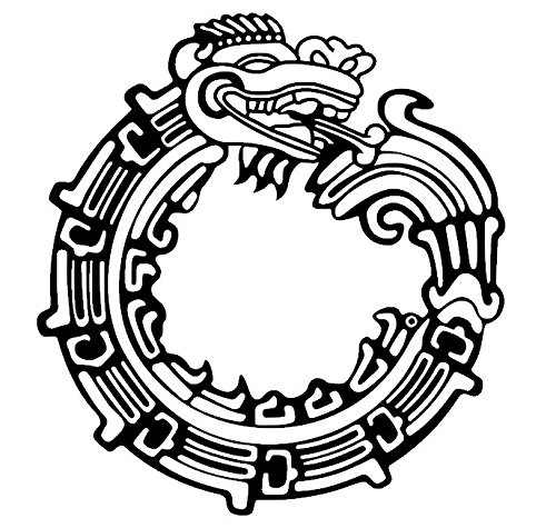 Ouroboros Vinyl Decal, Jormungandr, Dragon Decal, Mayan Feathered Serpent, Aztec Quetzalcoatl