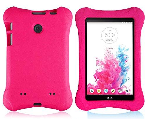 Bolete LG G Pad 7.0 EVA Case - Ultra Light Weight Shock Proof Convertible Kids Friendly for LG G Pad V410 (LTE) / V400 / VK410 / UK410 (G Pad F7.0) 7-Inch Android Tablet(Rose) (Lg Tablet Case Kids)