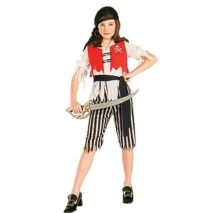 Amazon.com: De la niña del niño Pirate Wench Traje (Tamaño ...