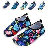 WXDZ Boys Girls Water Shoes Swim Shoes Quick Drying Barefoot Aqua Socks for Kids Beach Pool