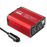 Car Power Inverter, YKS Car Power Inverter Converter 300W DC 12V to AC 110V With Dual USB Ports for Laptop, Tablets, iphones with Cigarette Lighter & Alligator Clips Cable