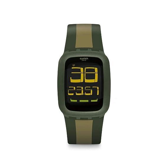Swatch Reloj Digital para Unisex Adultos de Cuarzo con Correa en Silicona SURG101D: Amazon.es: Relojes