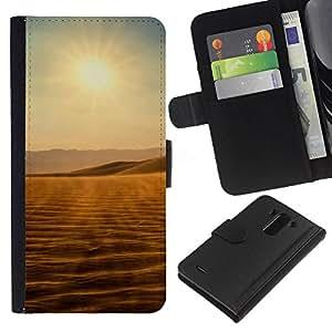 Ihec-Tech / Flip PU Cuero Cover Case para LG Optimus G3 - Desert views