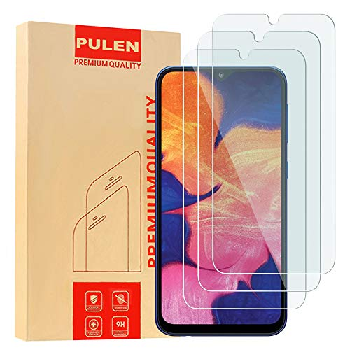[3-Pack] PULEN for Samsung Galaxy A10 Screen Protector(Not for Galaxy-A10E),HD Clear Anti-Scratch Bubble Free Anti-Fingerprints 9H Hardness Tempered Glass for Samsung Galaxy A10,6.2'' 2019