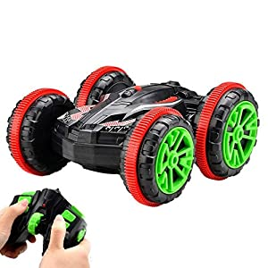 FSTgo RC Car Amphibious Off-Road Electric Vehicle 2.4Ghz 4WD Double Sided Remote Control Car All Terrain Stunt Truck with 360 Degree Spins and Flips
