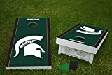 Michigan State Spartans Cornhole Game Bean Bag Toss Tailgate Set Wooden Regulation Size 24 x 48 with 8 Official 16oz Bags