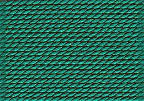- Griffin Nylon Cord Beading Knotting Jewelry Bead Thread Attached Needle Green (#12 (0.98mm))