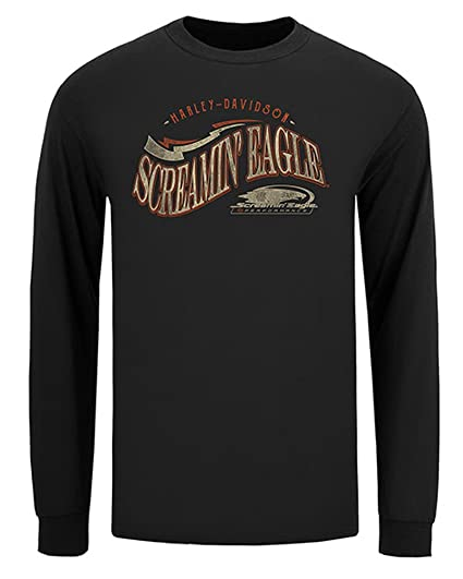 047d7e8a4089 Amazon.com  Harley-Davidson Men s Screamin  Eagle Lucky Eagle Long ...