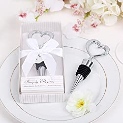 dngcity Open Heart Wine Bottle Stoppers Love Heart Wedding Favor