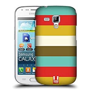 Head Case Designs Stripes Retro Christmas Protective Snap-on Hard Back Case Cover for Samsung Galaxy S Duos S7562 S7560