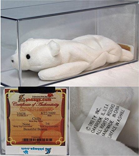 Polar Bear Mint (Chilly Polar bear Authenticated - Rare Mint, no ear tag - Ty Beanie Baby)