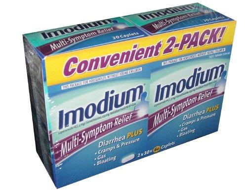 Imodium gaz 30 Box Caplet antidiarrhéiques et anti (pack de 2) Multi Soulagement des symptômes Diarrhée plus