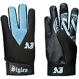 WWE AJ Styles Carolina Blue Replica Gloves