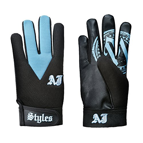 WWE AJ Styles Carolina Blue Replica Gloves by WWE Authentic Wear