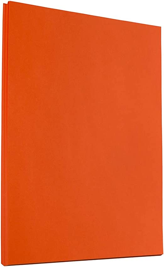 JAM PAPER Colored 24lb Paper Orange Recycled 50 Sheets//Pack 8.5 x 11