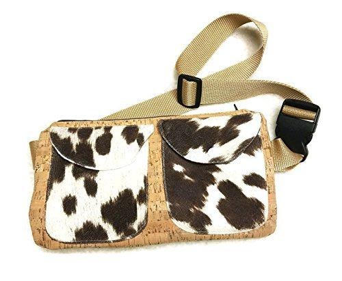 - Cow Fur Cork Fabric Fanny Pack