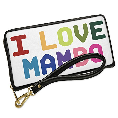 Wallet Mambo (Wallet I Love Mambo,Colorful Men's Bifold ID Case - Neonblond)