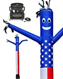 LookOurWay Air Dancers Inflatable Tube Man Complete Set with 1 HP Sky Dancer Blower, 20-Feet, American Flag