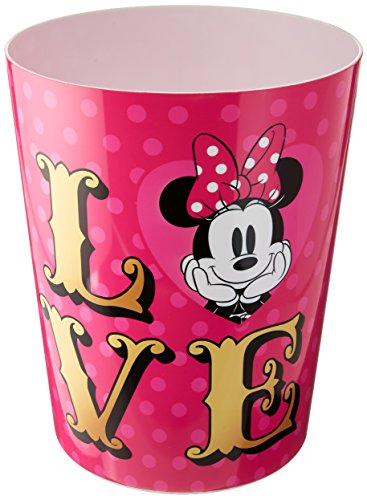 Disney Minnie Mouse XOXO Pink/Gold/White Waste Basket