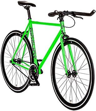 Big Shot Bicicletas Prime Line | Fixie | Bicicleta de Pista | Opciones de Velocidad única o de Engranaje Fijo | para Hombres y Mujeres | Pequeño, Mediano y Grande: Amazon.es: Deportes y aire libre