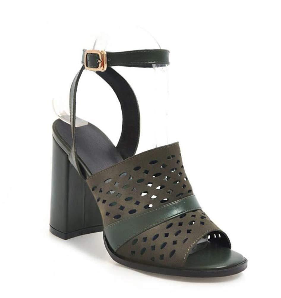 GLTER Donne Moda Peep Toe Sandali Estate Nuovo Tacco Alto Caviglia Cinturino Pompe Taglia 40-48,verde,39EU | Costi Moderati  | Uomo/Donna Scarpa
