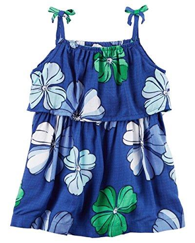 Carter's Baby Girls' Floral Poplin Dress 6 Months