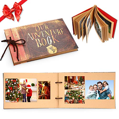 Our Adventure Book Handmade DIY Family Scrapbook Wedding Guest Book Photo Album DIY Anniversary Travel Memory Book