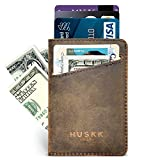 Slim Front Pocket Leather Wallet for Men Card Holder Up to 8 Cards