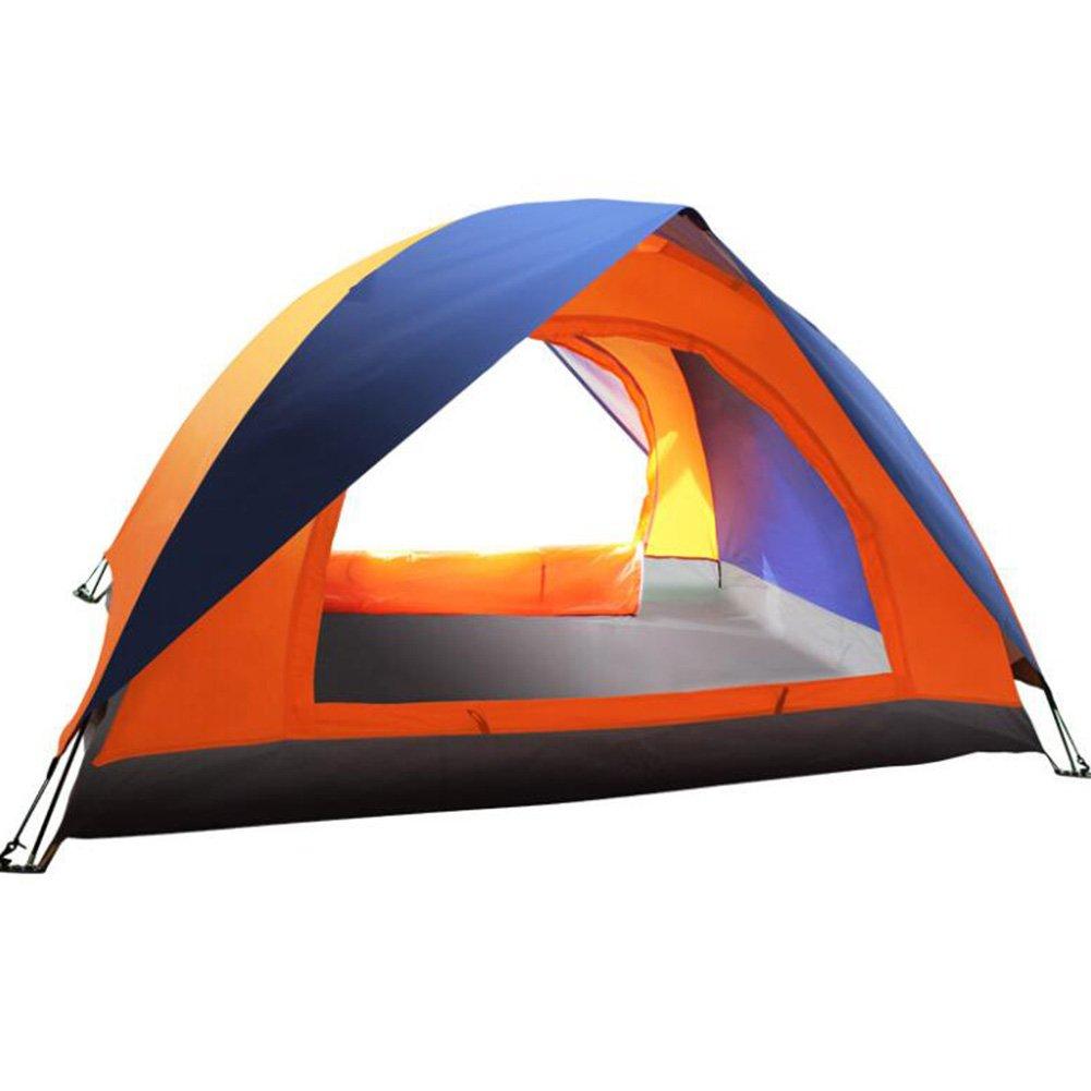 Gaojuan Camping Zelt Camping Leichte Unisex Outdoor-Dome-Zelt Erhältlich in Orange Double Outdoor Freizeit Tourismus Doppeltür Zelt