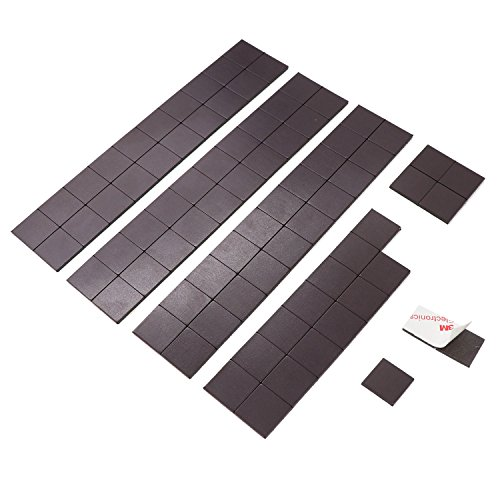 ESFUN Magnet Squares with 3M Adhesive, Magnetic Tape For Home/Office/School Organization, Fridge Magnet, DIY Project Board, Magnet Sheets with Adhesive,80 Pieces, 20x20x2mm by ESFUN
