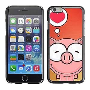 "Exotic-Star ( Cute Pig Love ) Fundas Cover Cubre Hard Case Cover para 5.5"" iPhone 6 Plus"