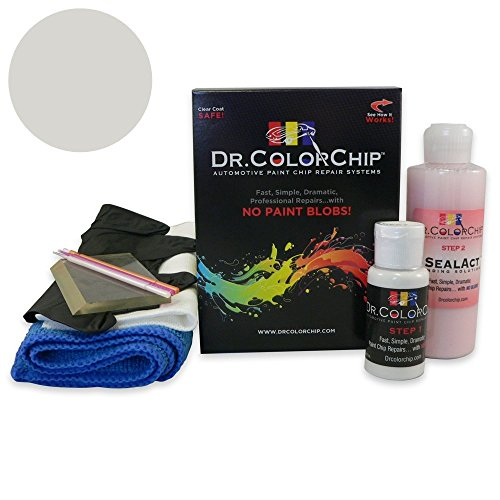 Satin Silver Effect - Dr. ColorChip Ford Mustang Automobile Paint - Satin Silver Effect TL - Squirt-n-Squeegee Kit