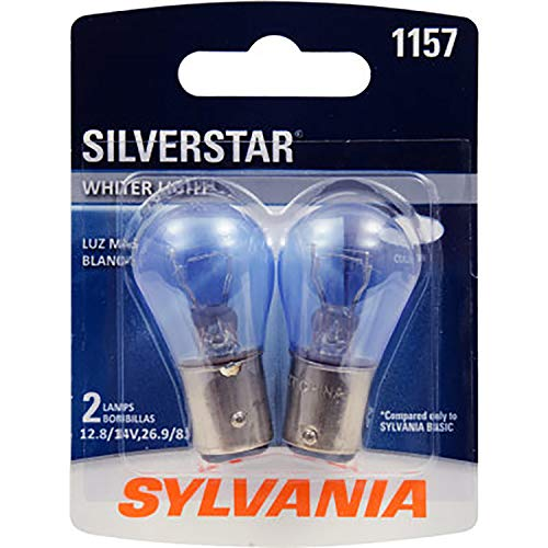 SYLVANIA 1157 SilverStar High Performance Miniature Bulb, (Contains 2 (Halogen Miniature Bulb)