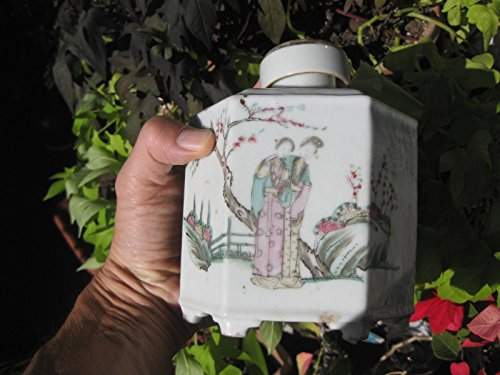 (Chinese porcelain Container for dry tea, Qing Dynasty)