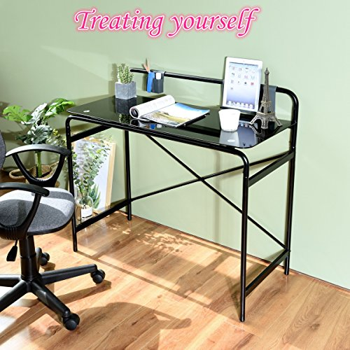 Review Office Glass Computer Desk,Study