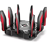 TP-Link AC5400 Tri Band Gaming Router – MU-MIMO, 1.8GHz Quad-Core 64-bit CPU, Game First Priority, Link Aggregation, 16GB Storage, Airtime Fairness, Secured Wifi, Works with Alexa (Archer C5400X) (Renewed)