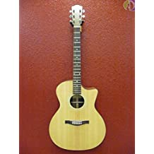 Eastman AC-GA1CE Grand Auditorium Solid Wood Acoustic Electric Guitar, Gig Bag Included