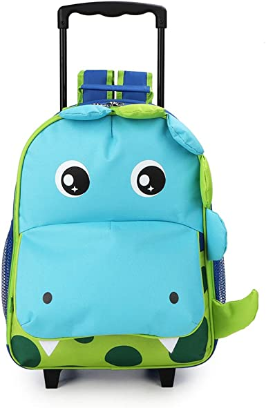 Fantastic four backpack rolling Large School bag luggage Free Sports Bottle new