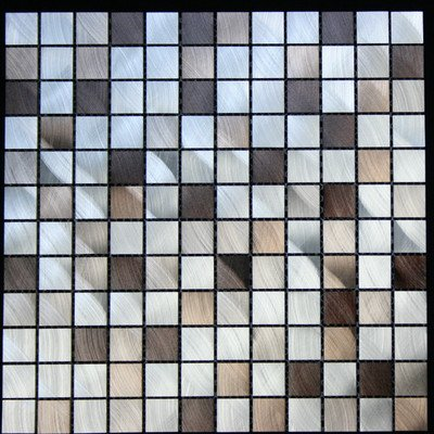 Legion Furniture ALUMINUM TILE Silver & Brown/Aluminum