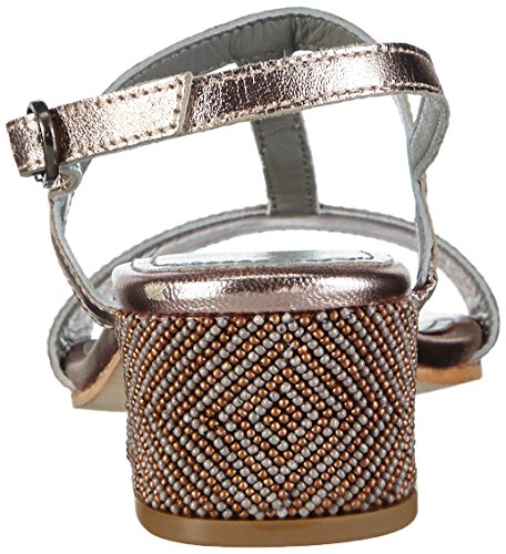 Apepazza Eva Metal - Zapatos de Talón Abierto Mujer Dorado - Gold (ORO/ROSA)