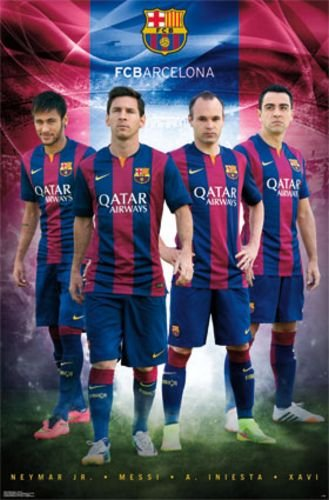 24c2e1f0c Amazon.com  FC Barcelona Team 2014 La Liga Barca - Neymar Jr. Lionel Messi  Andres Iniesta Xavi 22