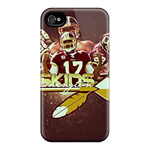 Hard Protect Phone Cases For Iphone 4/4s (igQ14947LtiL) Allow Personal Design Fashion Washington Redskins Image