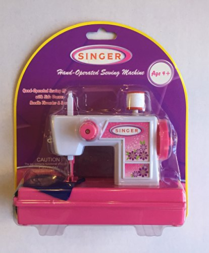 Singer Original Hand Operated Sewing Machine Child Toy Home Play By NKOK A2501A. Age 4 years And Up. 8¼ x 6 x 3 inches. (Manufacture Discontinued)