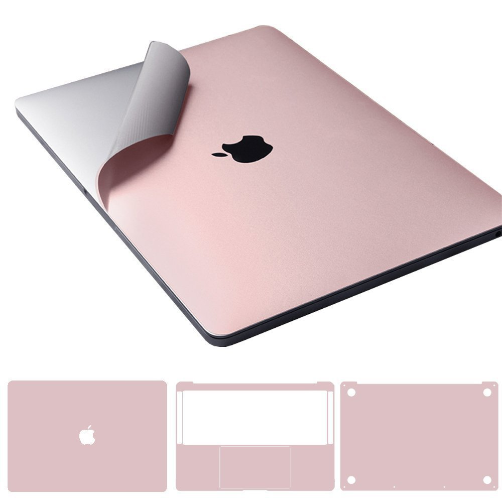 Leze - 4-in-1 Full Body Cover MacBook Skin Protector Decals Sticker for Apple Macbook Air 13-inch 13.3'' A1466 & A1369 - Rose Pink