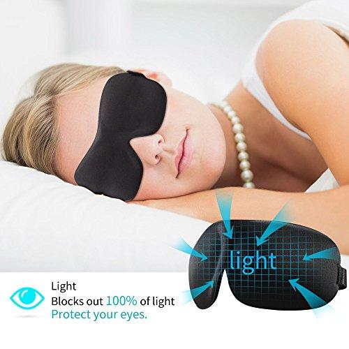 Higher Invisiable Nose Alar AMTOOCH Sleep Mask 3D Contoured Soft Eye Masks Adjustable Strap Great for Travel, Shift Work, Nap, Meditation & Sleeping Aid by AMTOOCH (Image #4)