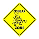 Cougar Crossing Sign Zone Xing | Indoor/Outdoor | 12' Tall cat milf hunter mom fast