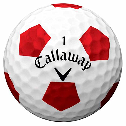 Callaway 2016 Chrome Soft Truvis Golf Balls, White/Red